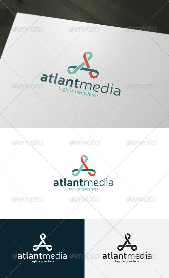 GraphicRiver Atlant Media Logo Letter A 7318430