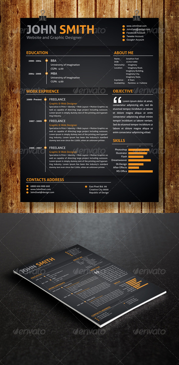 GraphicRiver Resume 7319280