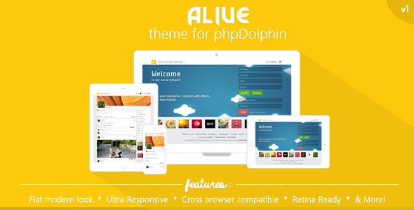 CodeCanyon Alive Theme for phpDolphin 7242036