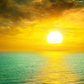 Beautiful sunset above the sea - PhotoDune Item for Sale