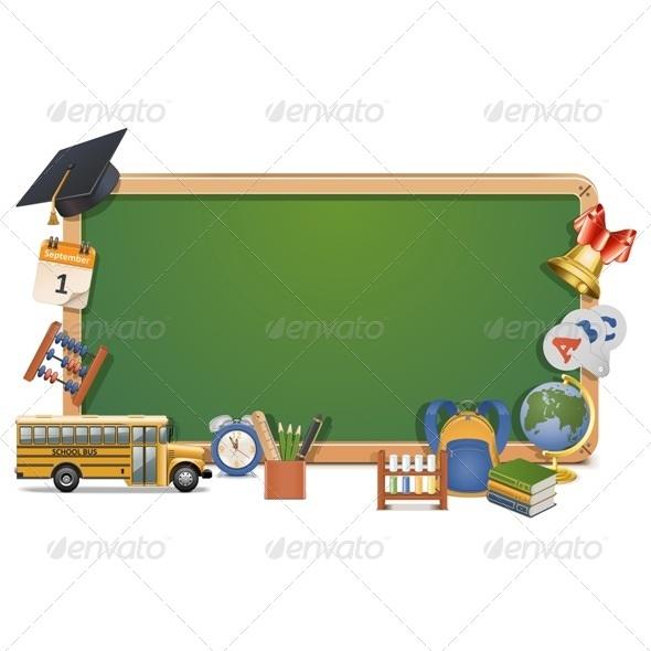 GraphicRiver Vector Schooling Board 7319992