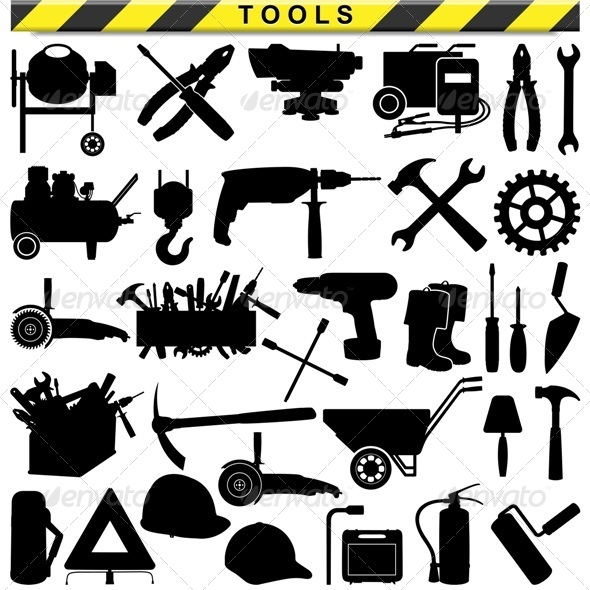 GraphicRiver Vector Tool Pictograms 7320080
