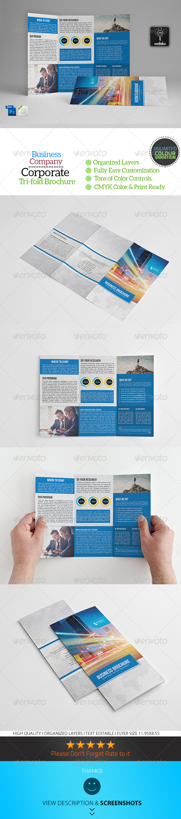 GraphicRiver A4 Trifold Business Brochure Template Vol07 7320090