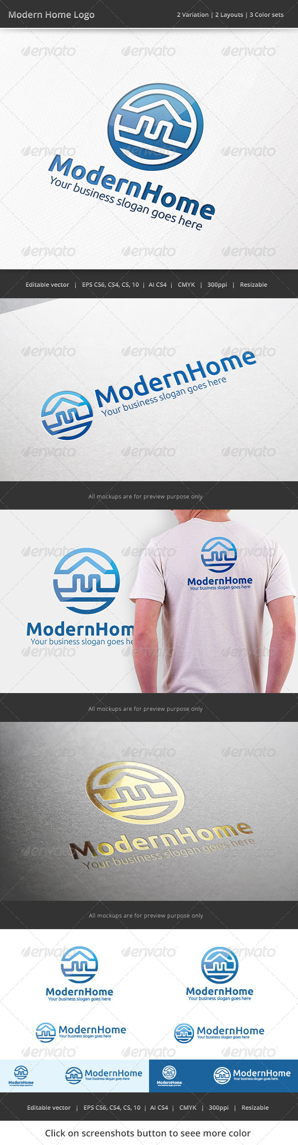 GraphicRiver Modern Home Real Estate Logo 7320124