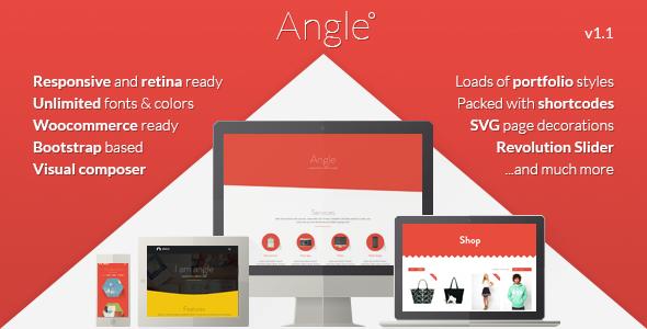 Theme de WordPress Estilo Flat: Angle Flat