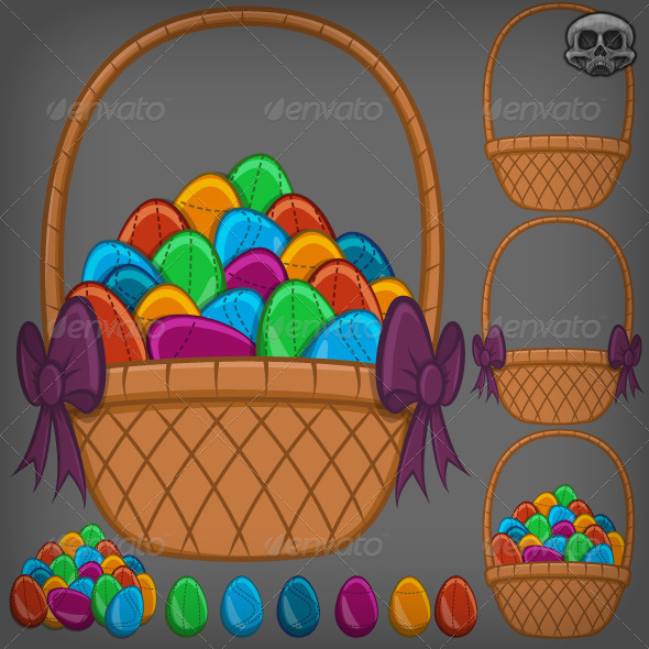 GraphicRiver Easter Egg Basket 7320270