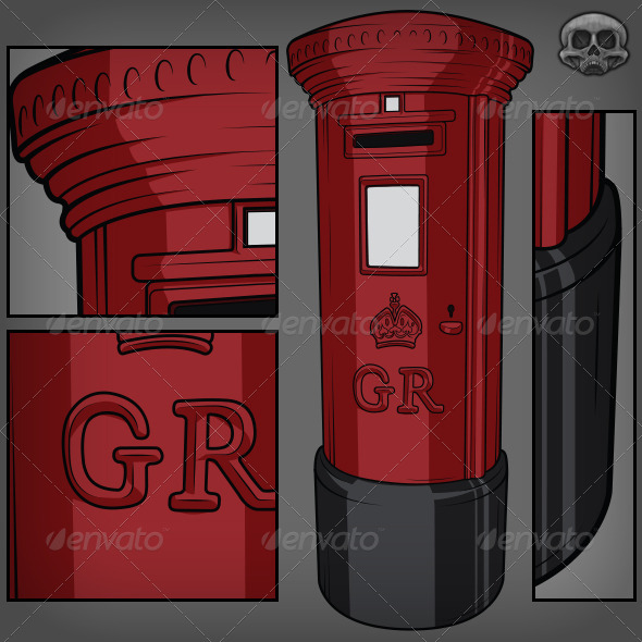 GraphicRiver British Postbox 7320482