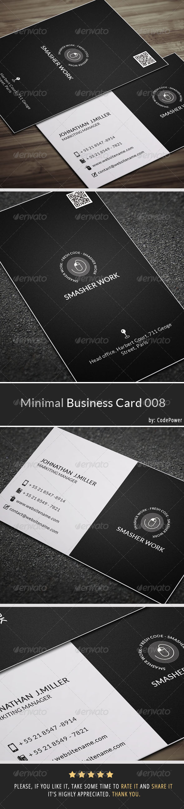 GraphicRiver Minimal Business Card 008 7320562