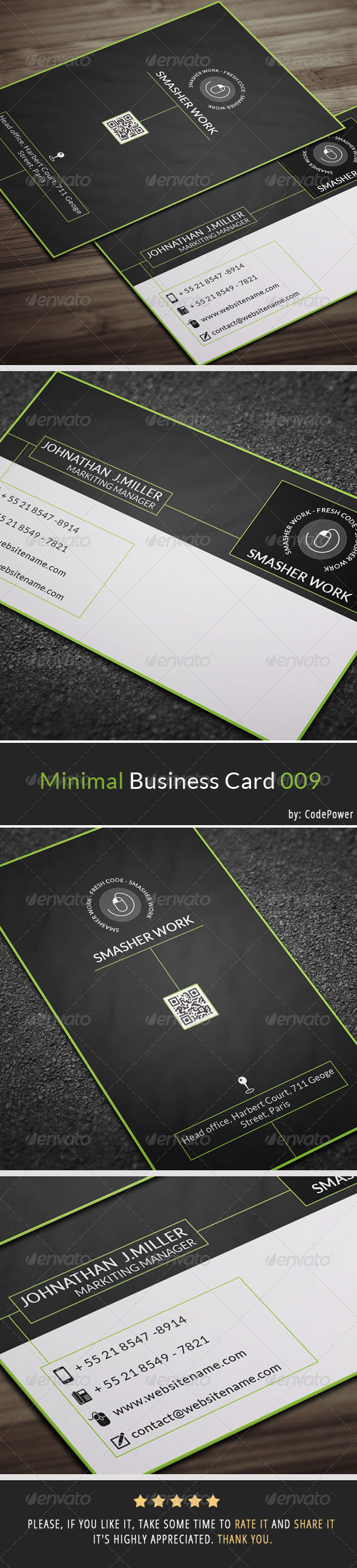 GraphicRiver Minimal Business Card 009 7320626