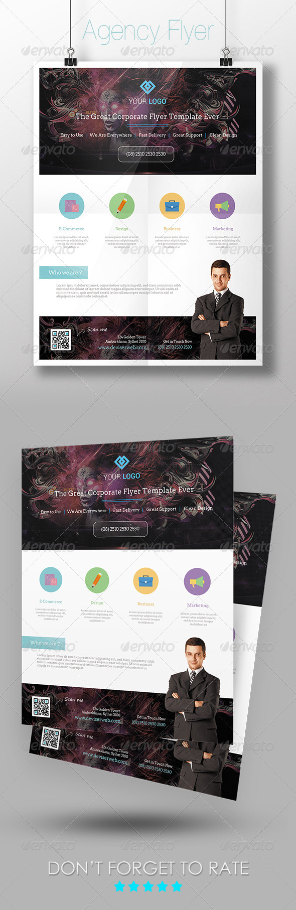 GraphicRiver Corporate Agency Flyer Template 7320888
