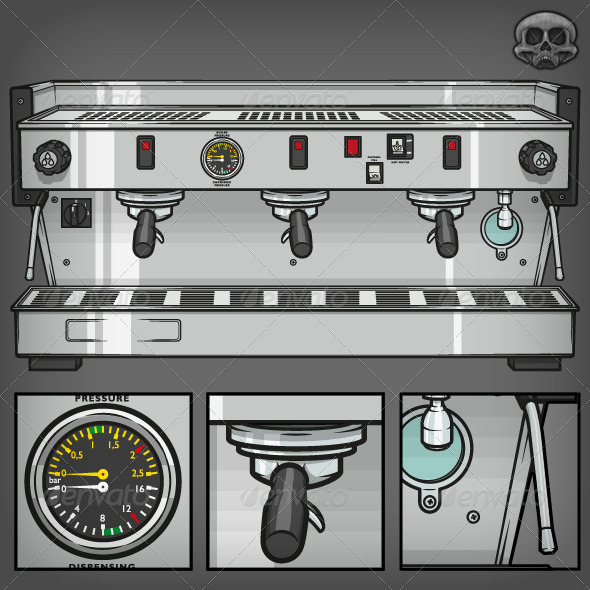 GraphicRiver Coffee Machine 7321003