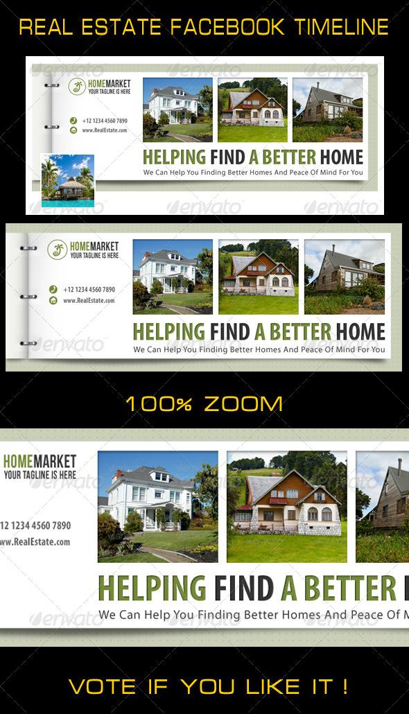 GraphicRiver Real Estate Facebook Timeline 7314142