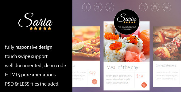 ThemeForest Saria Shop Restaurant & Home Delivery template 7321425