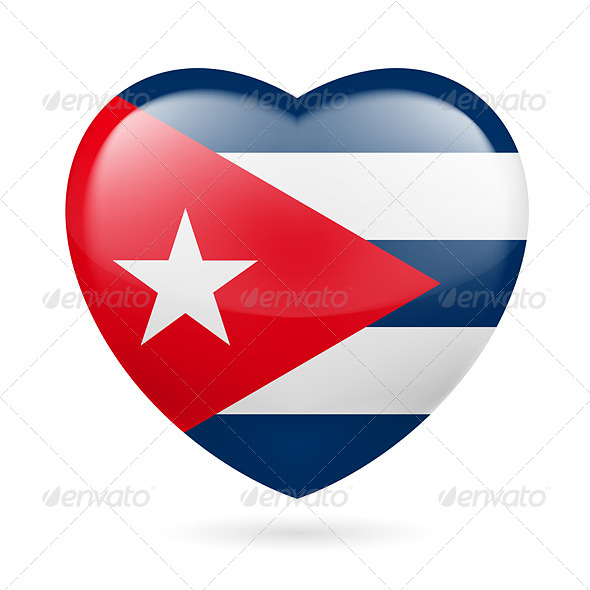 GraphicRiver Heart Icon of Cuba 7321649