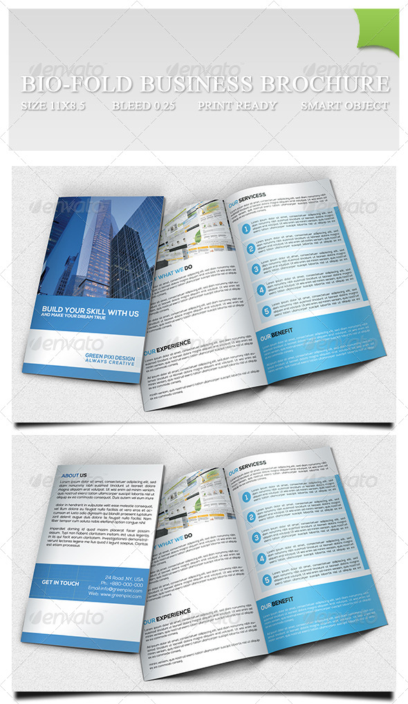 GraphicRiver Bio-fold Business Brochure 7260350