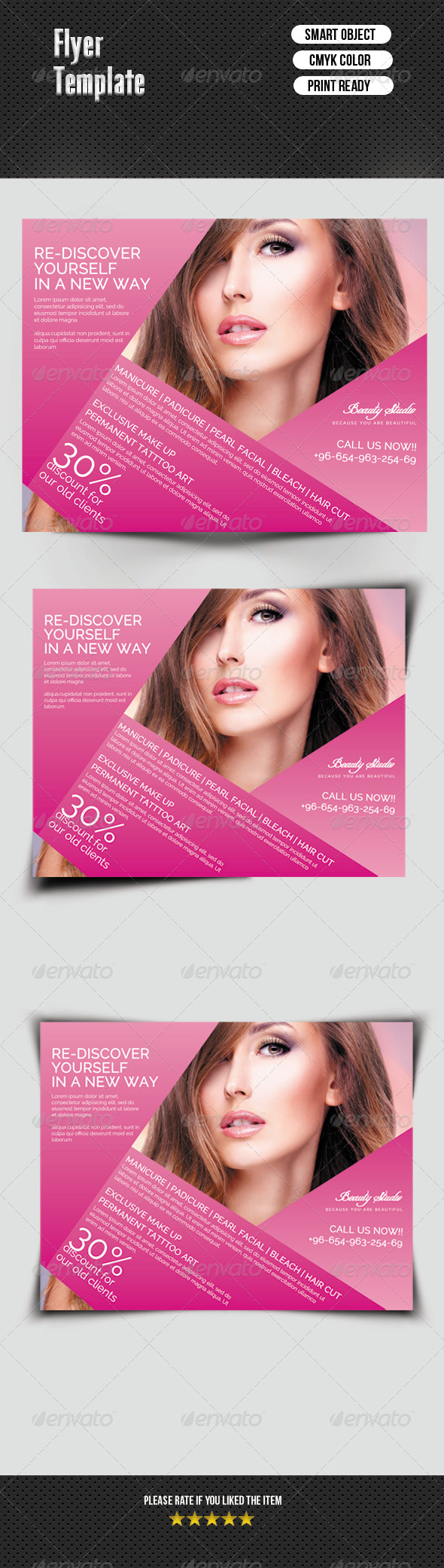 GraphicRiver Beauty Salon Flyer 7321826