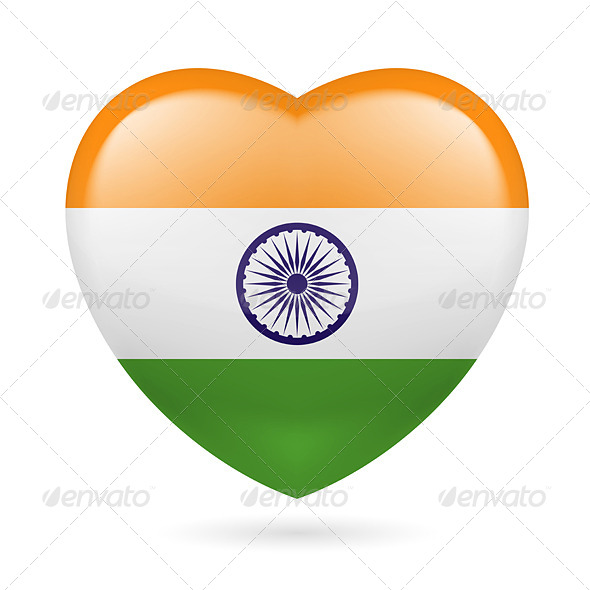 GraphicRiver Heart Icon of India 7321846