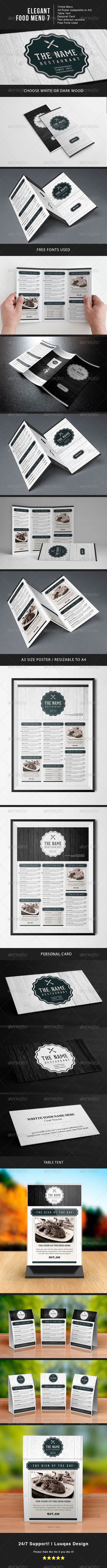 GraphicRiver Elegant Food Menu 7 7321871