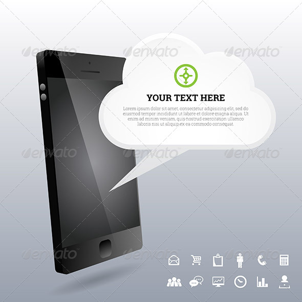 GraphicRiver Phone 3D Cloud Design Elements 7321881