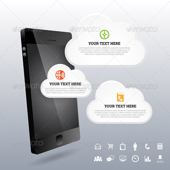 GraphicRiver Phone 3D Cloud Design Elements 7321883