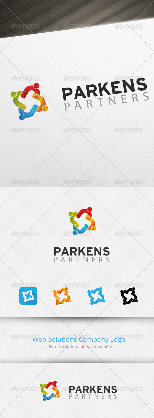 GraphicRiver Social Partners Logo Template 7069024