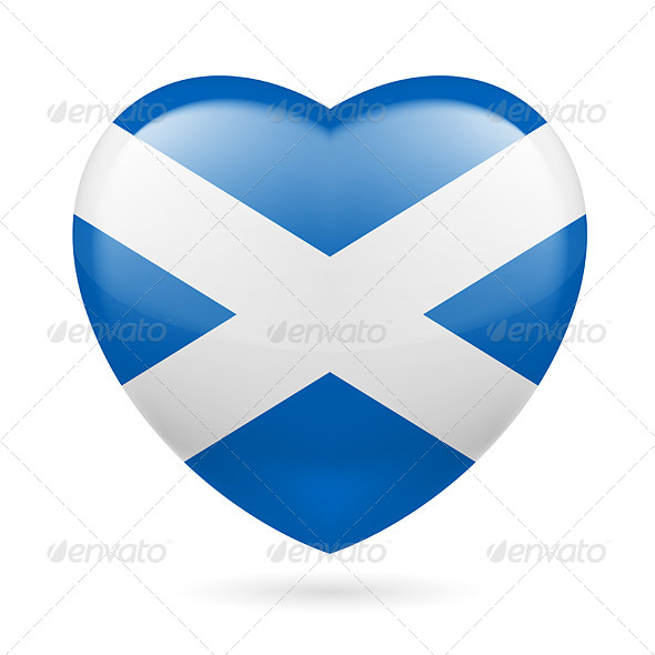 GraphicRiver Heart Icon of Scotland 7321961