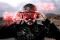 speed red  light effects in googles biker with black leather jac - PhotoDune Item for Sale