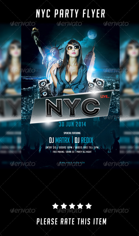 GraphicRiver New York Party Flyer 7322510
