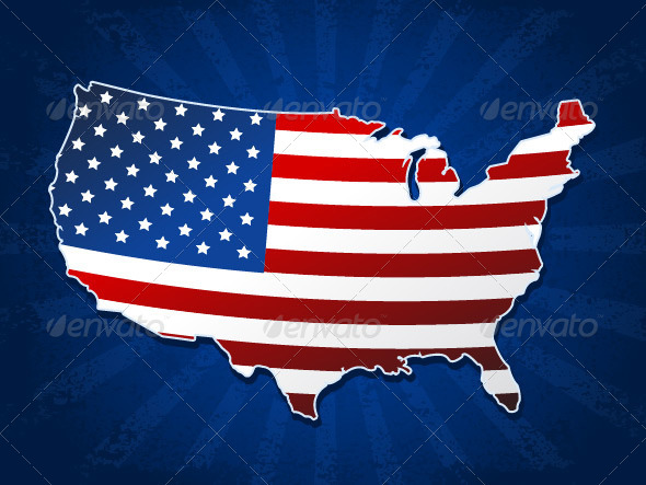 GraphicRiver USA Map 7321341
