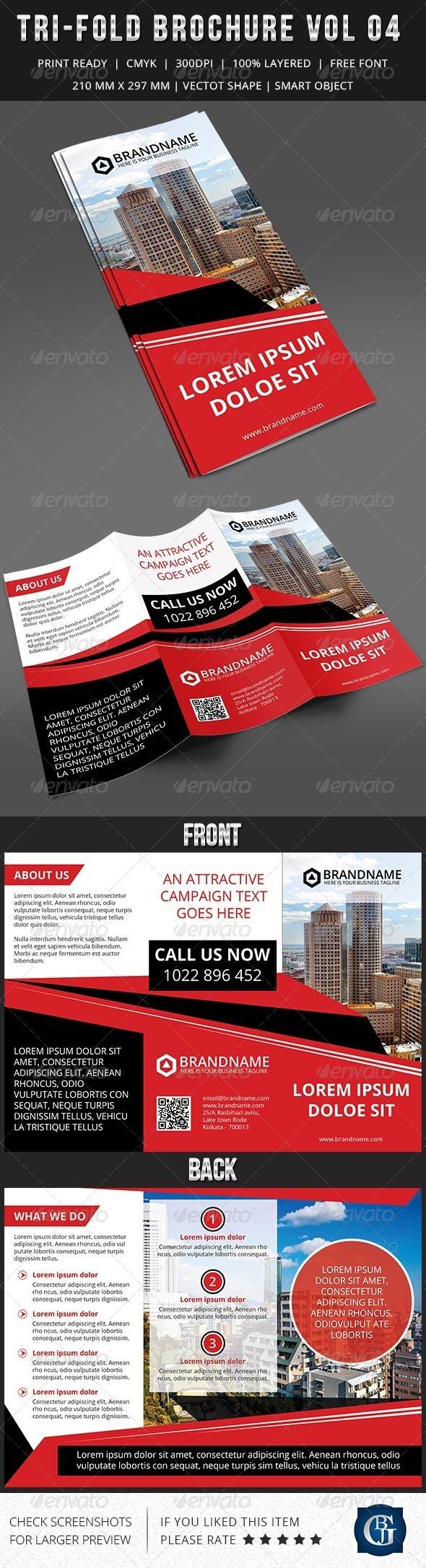 GraphicRiver Corporate Multipurpose Trifold Brochure Vol 4 7323095