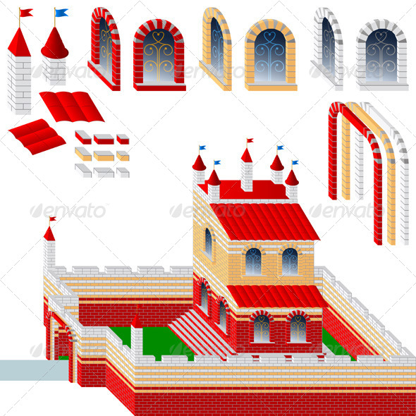 GraphicRiver Set of Bricks and Palace 7323106
