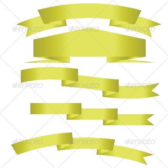 GraphicRiver Gold Ribbons 7323199