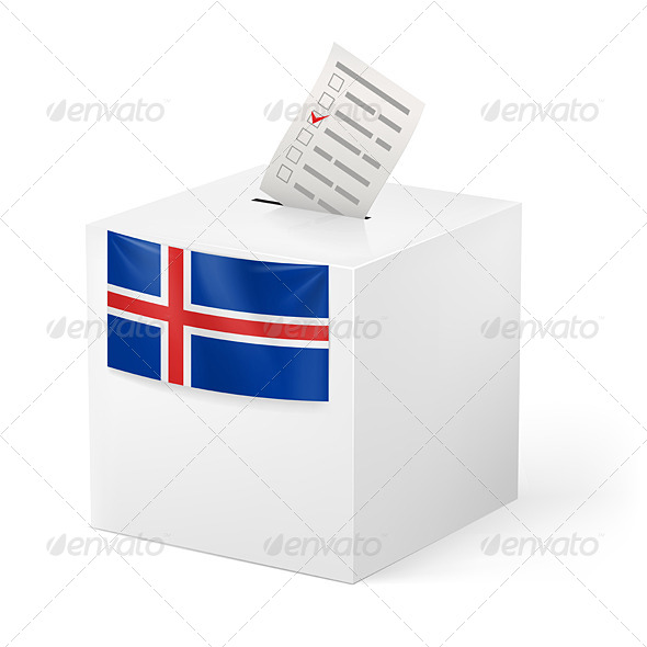 GraphicRiver Ballot Box with Voting Paper Iceland 7323382