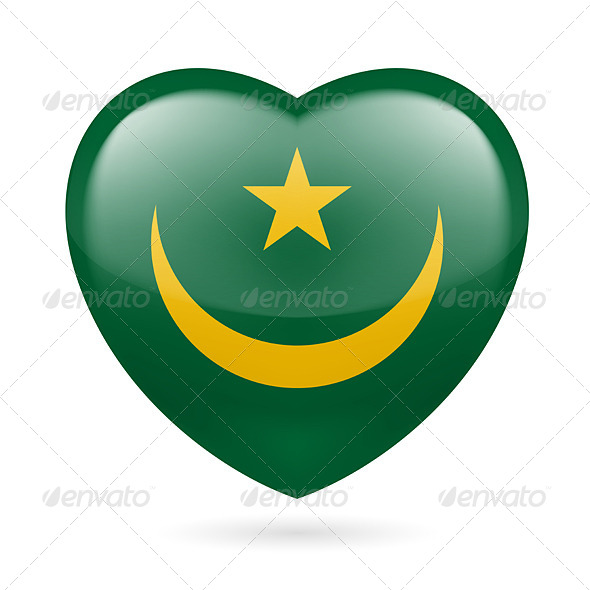 GraphicRiver Heart Icon of Mauritania 7323385