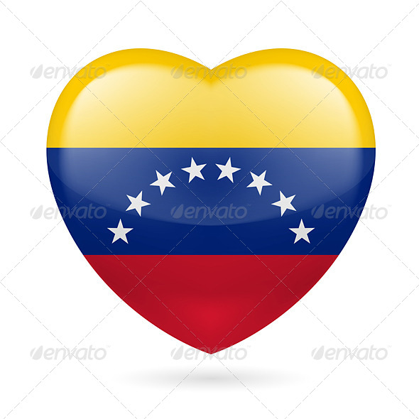 GraphicRiver Heart Icon of Venezuela 7323403