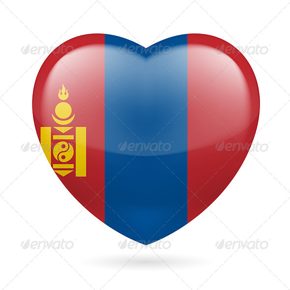 GraphicRiver Heart Icon of Mongolia 7323405