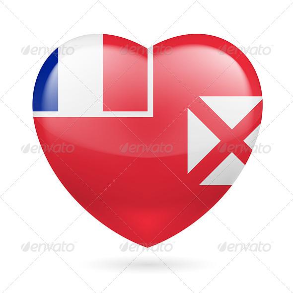 GraphicRiver Heart Icon of Wallis and Futuna 7323406