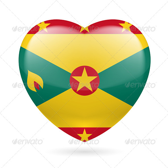GraphicRiver Heart Icon of Grenada 7323409
