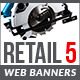 Retail 5 Web Banners - GraphicRiver Item for Sale