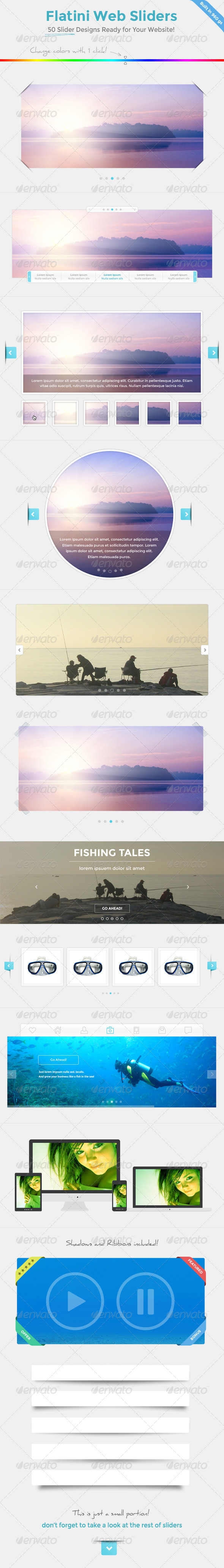 GraphicRiver Flatini Web Sliders 7314264