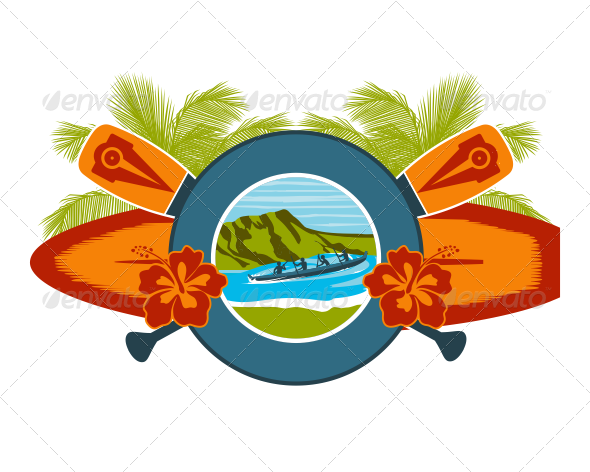 GraphicRiver Surf and Canoe Ride Emblem 7262606