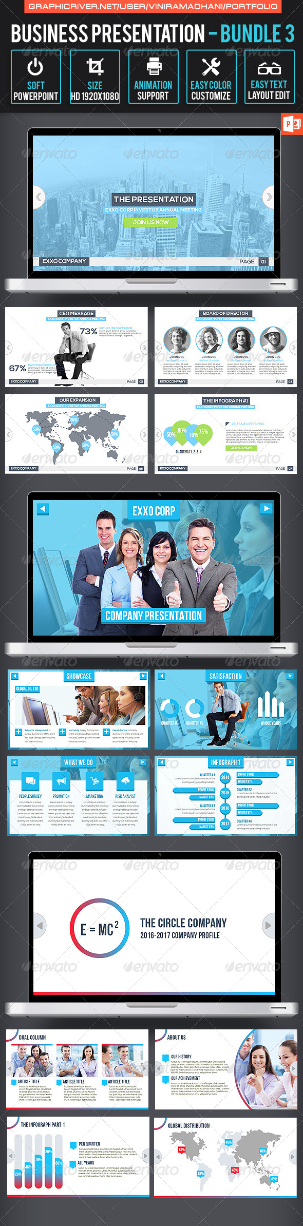 GraphicRiver Business Presentation Bundle 3 7324465