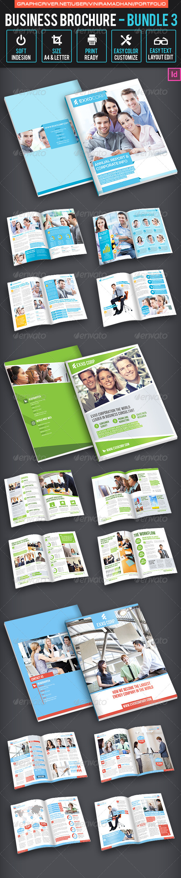 GraphicRiver Business Brochure bundle 3 7324605