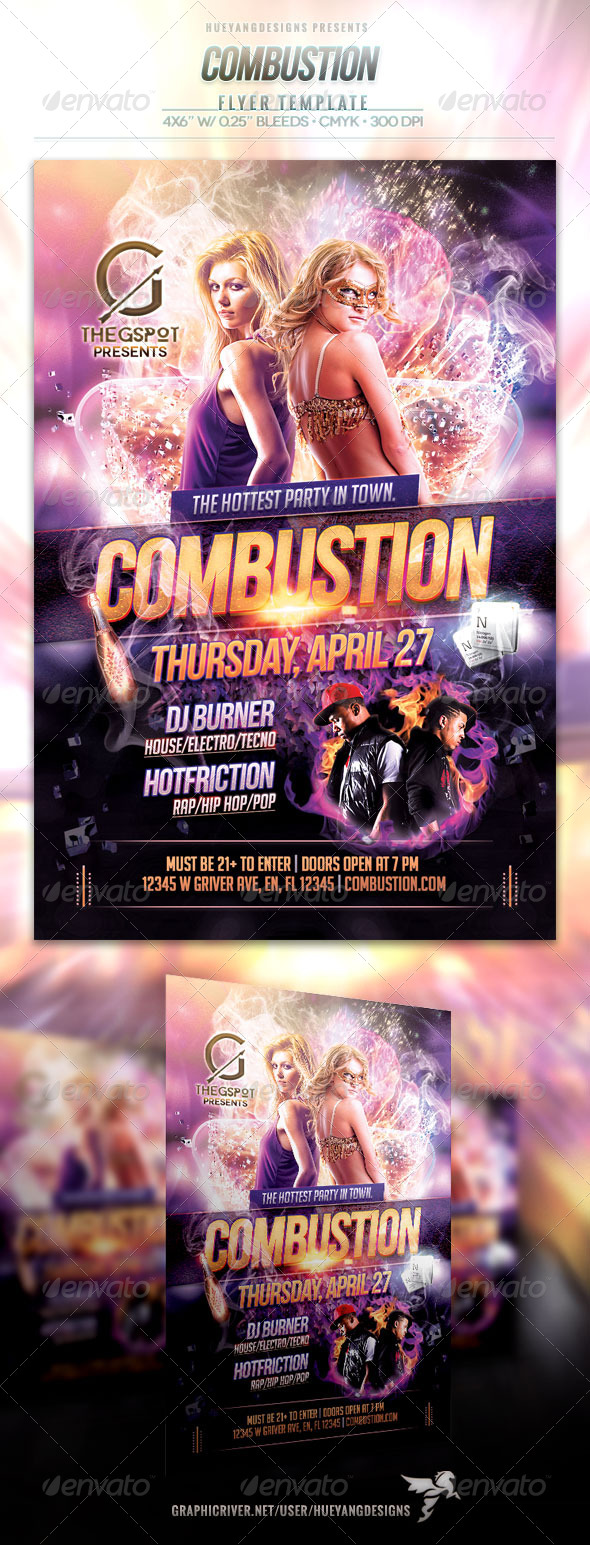 GraphicRiver Combustion Flyer 7296234