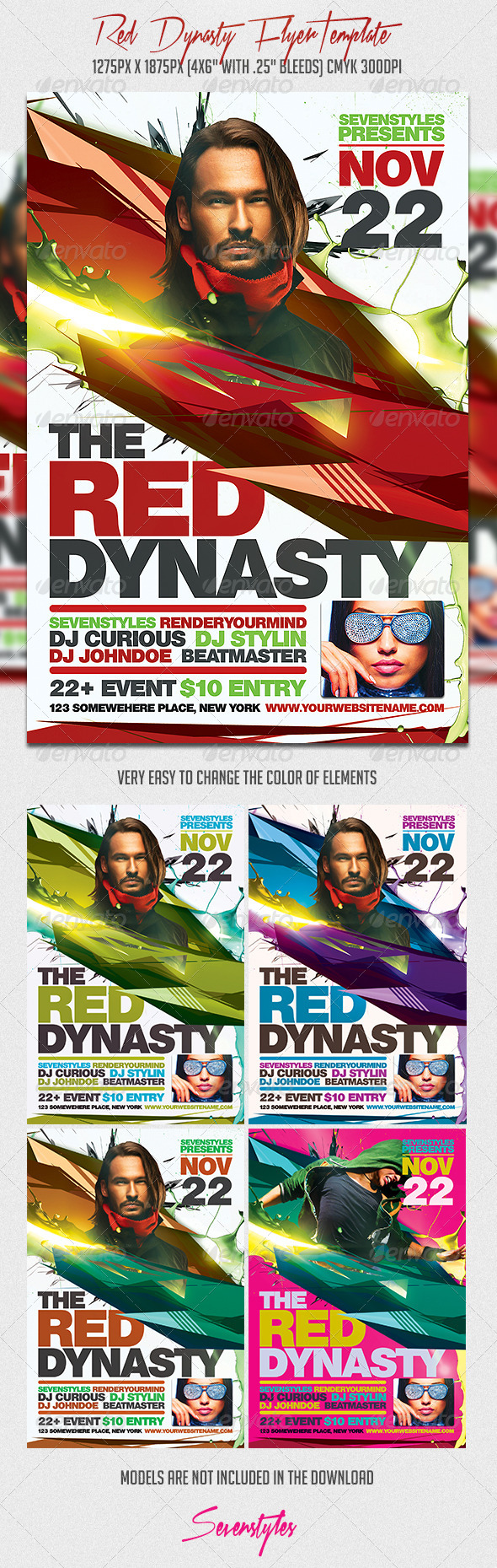 GraphicRiver Red Dynasty Flyer Template 7324905