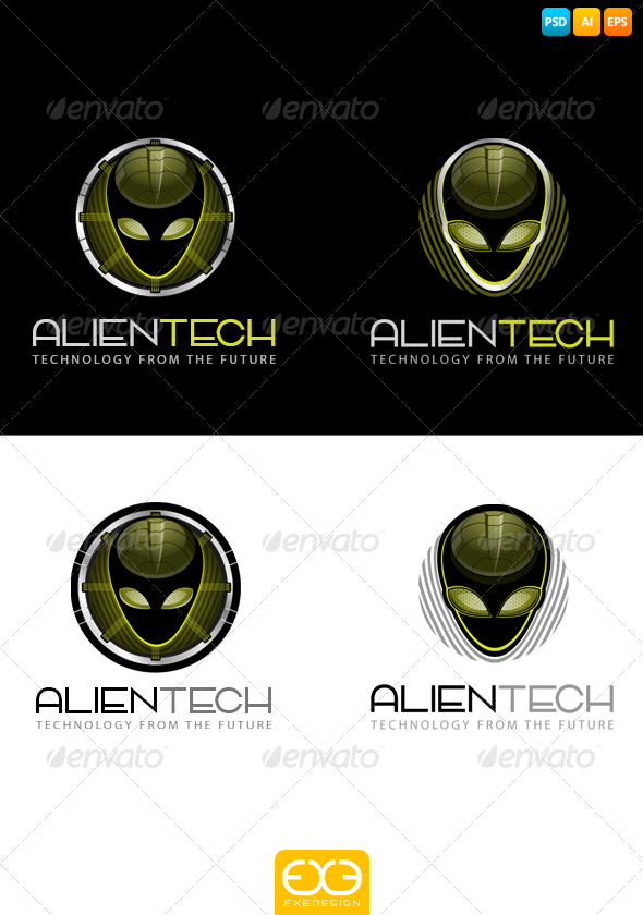 GraphicRiver Alien logo 7324918