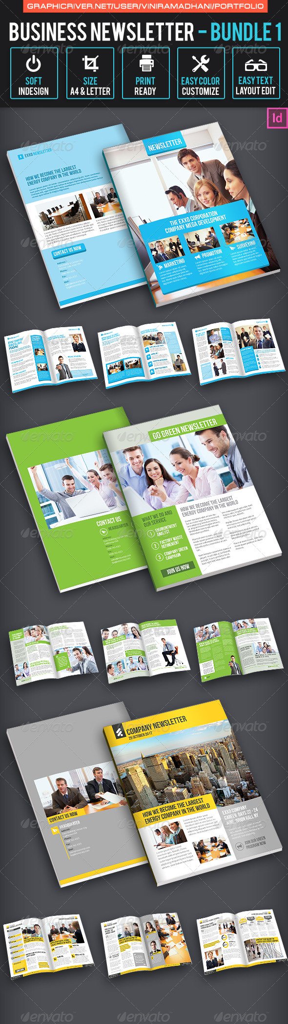 GraphicRiver Business Newsletter Bundle 1 7325233