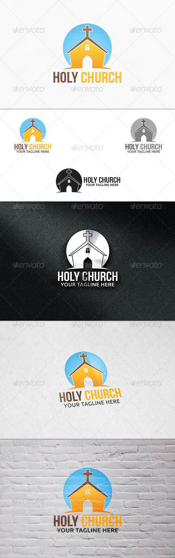 GraphicRiver Holy Church Logo Template 7325265