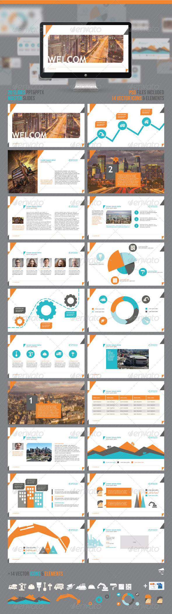 GraphicRiver Construction PowerPoint Presentation 7325451