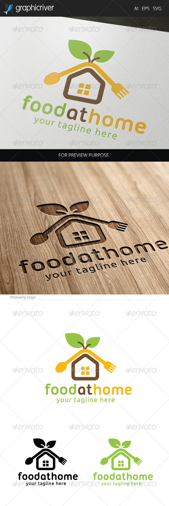 GraphicRiver Food at Home Logo 7325547